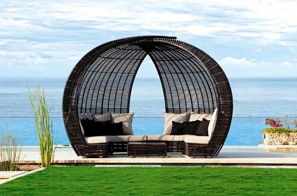 Rattan lounge  Outdoor furniture for relaxing – rattan lounge beds by Skyline ...