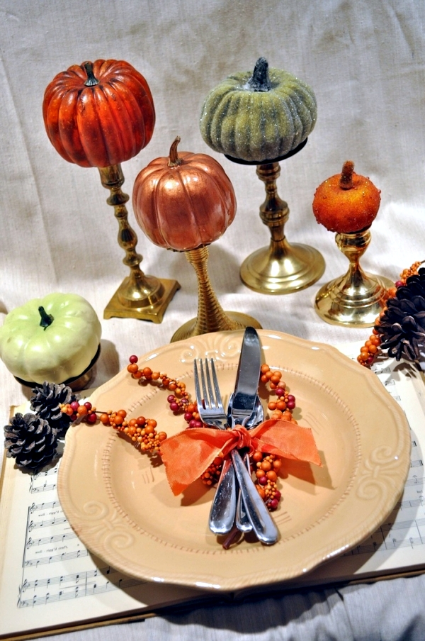 Panels in the fall festive decorating ideas for table decorations -35