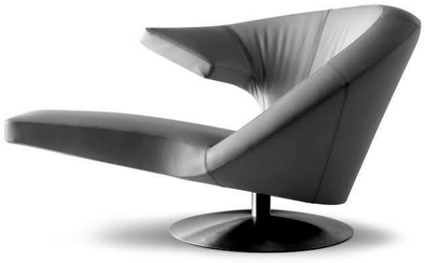 Parabolic innovative design armchair by Stefan Heiliger for Leolux