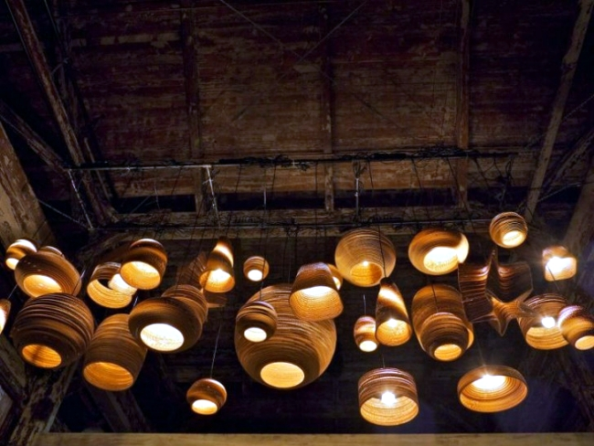"Pendant luminaire design with environmentally friendly concept - ""Scraplights"""