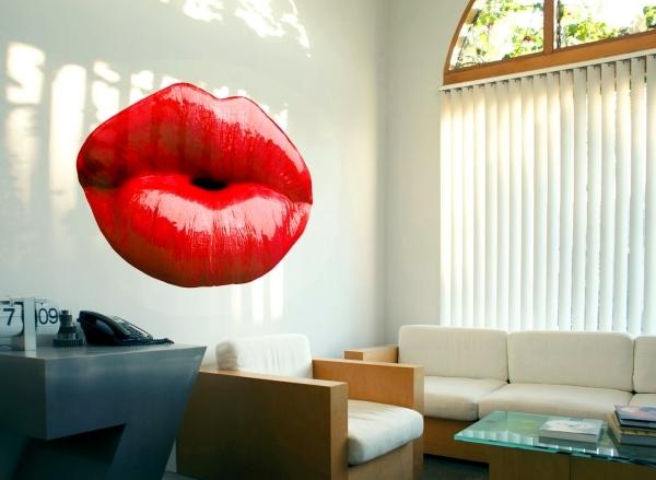 "Photorealistic 3d wall sticker ""Wallflower"" bring walls to life"