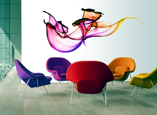 "Photorealistic 3d wall sticker ""Wallflower"" bring walls to life"