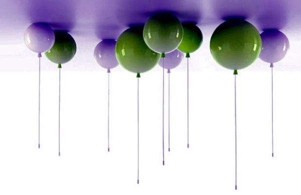 Playful lighting design in balloon shape in the mood for interior