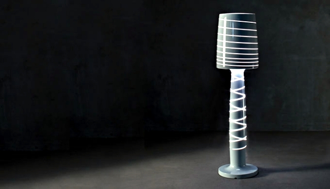 Polyethylene Floor Lamp by Serralunga suitable for indoor and outdoor