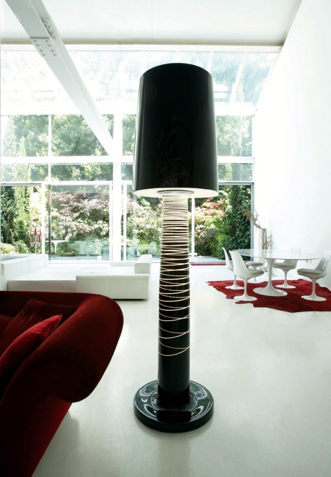 Polyethylene Floor Lamp by Serralunga suitable for indoor and outdoor