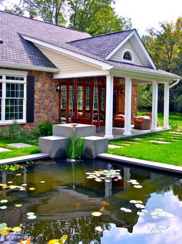 Pond in the backyard using five useful tips to create