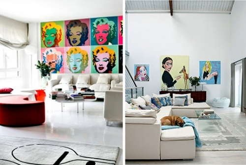 Check out these creative and original ideas for pop art inside creating a gloomy atmosphere everyone has their own idea of how the interior of the house