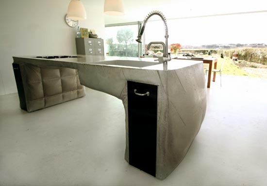 Poured Concrete Kitchen Island   Kitchen Island Design By Thomas Linssen