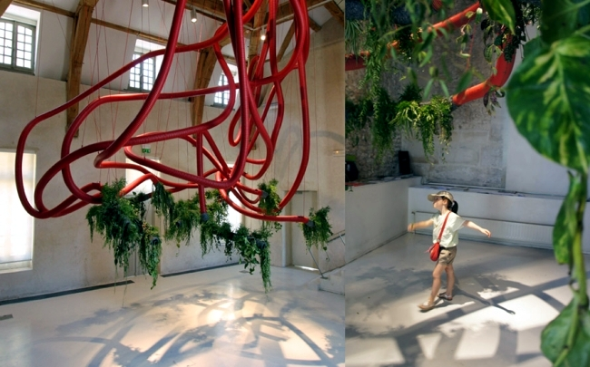 Public art installations with plants of Alexis Tricoire