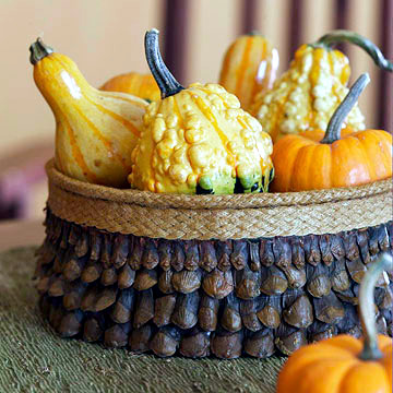 Pumpkin decoration on the autumn table - 20 creative ideas and arrangements