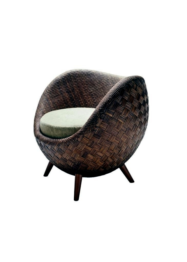 rattan chair inspired by the moon la luna by kenneth