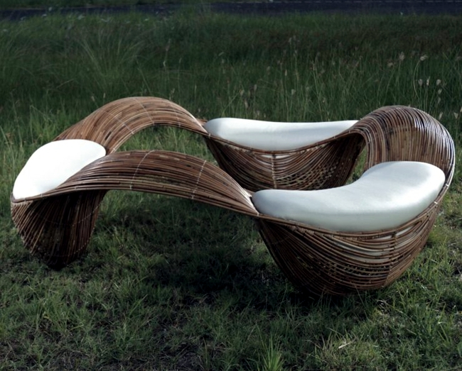 Garden Furniture Unusual rattan furniture with character-chic unusual for the garden