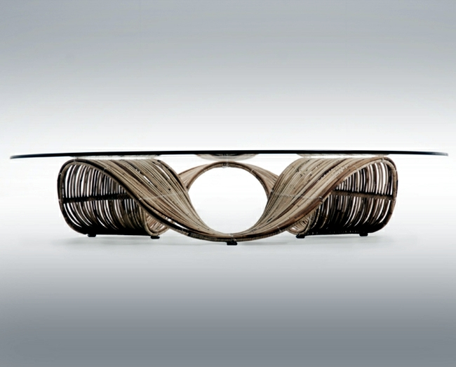 Rattan furniture with character-chic unusual for the garden