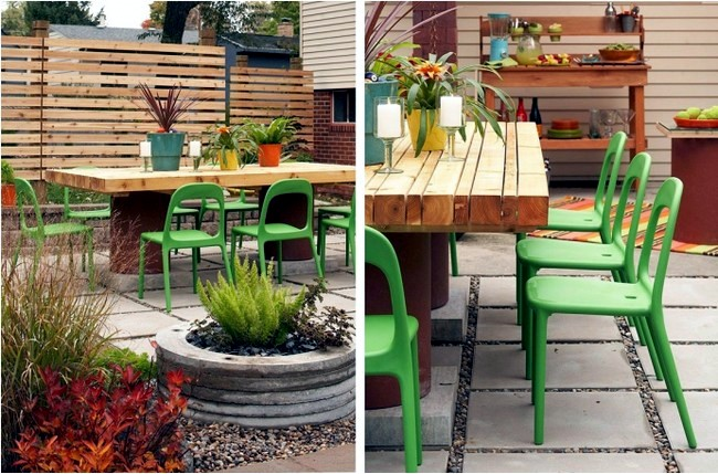 Rebuild the garden courtyard itself - 17 useful garden design ideas
