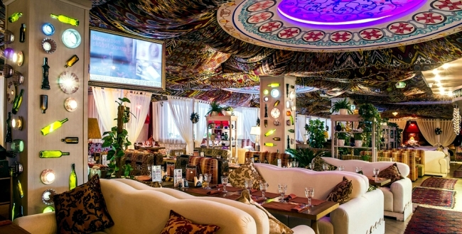 Restaurant Design in Moscow with authentic Oriental atmosphere