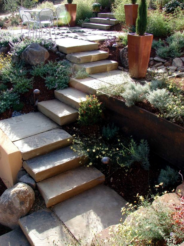 Retaining wall in the garden - 15 ideas for designing terraces