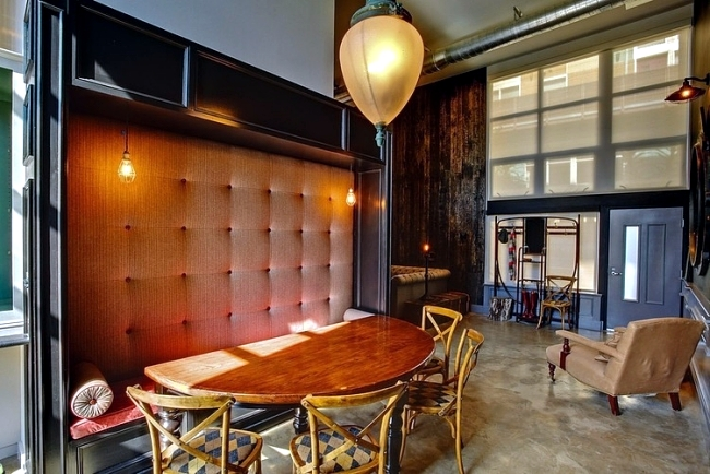 Retro interior design with industrial touch in a chic LA apartment