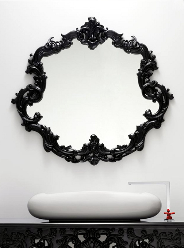Rich ornament bathroom furniture in antique look for your modern bathroom