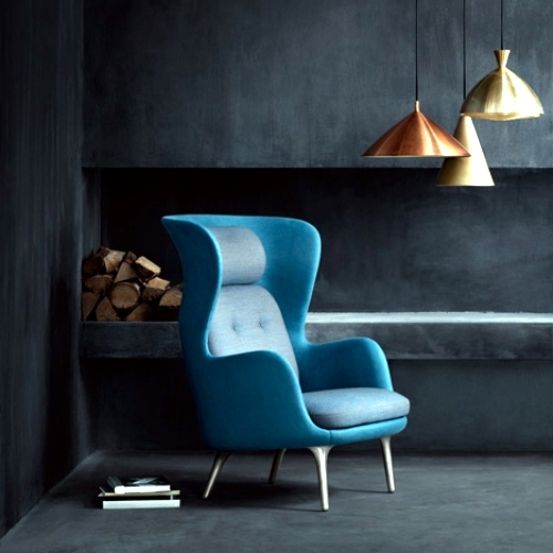 Ro armchair design by jaime hay n for comfort and for Relaxing chair design