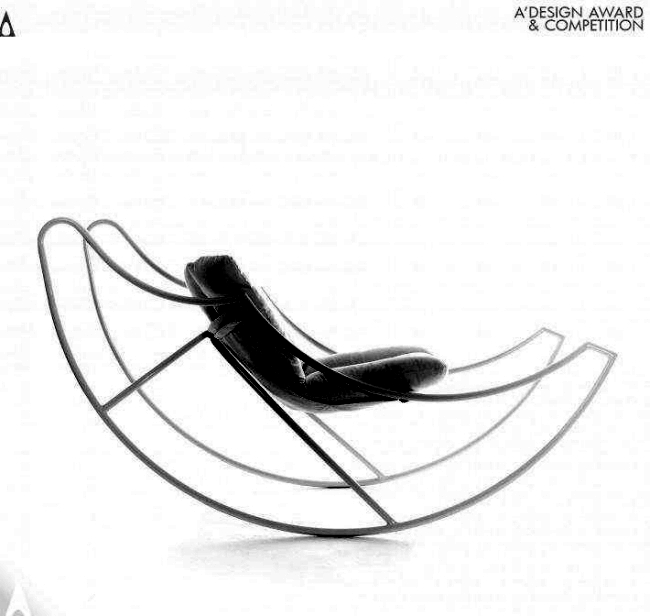 Rocking chair is design by Stefania Di Luna Ali Vola in the Zeitgeist