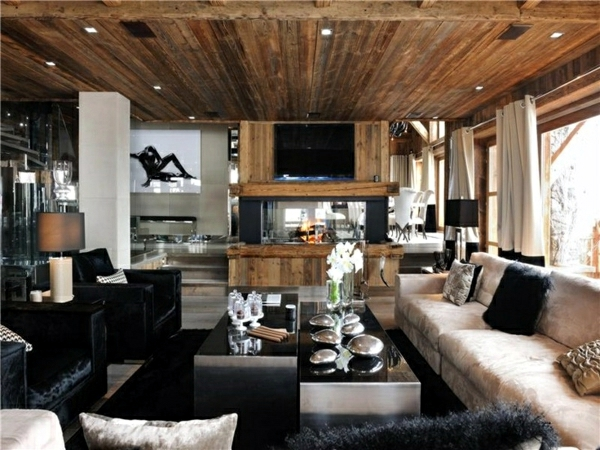 Rustic decorating ideas for a living room in country style - Decorating living room country style ...