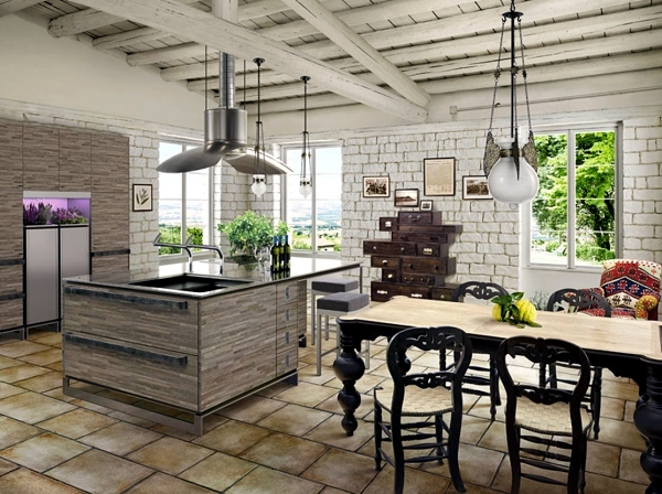 Rustic kitchen offers a stylish ambience – 20 design ideas ...