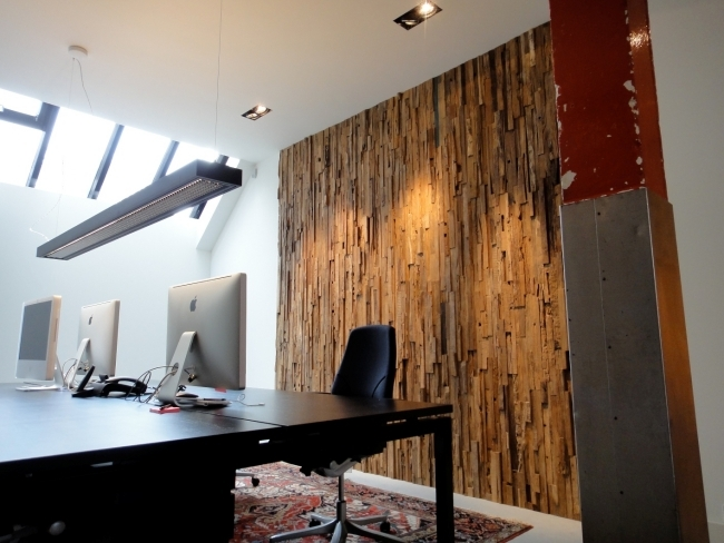 Rustic wall cladding wood - panels of Wonderwall Studios