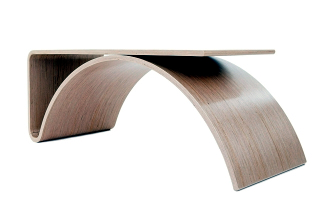 Stylish And Practical Contemporary Furniture For Every: Scalloped Designer Desk With Practical Design