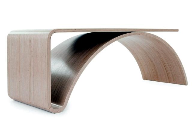 Scalloped designer desk with practical design