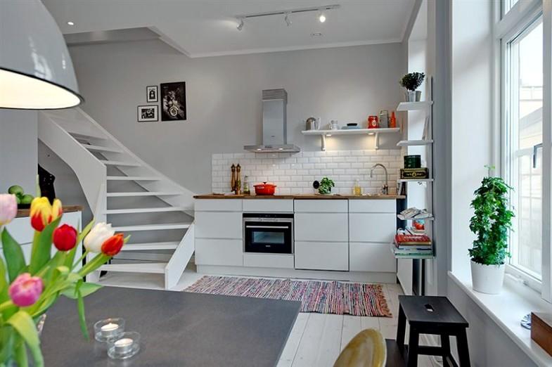 Scandinavian interior stairs