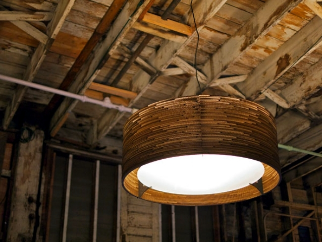 Scraplight designer hanging lamps made of recycled corrugated cardboard from Gray Pants