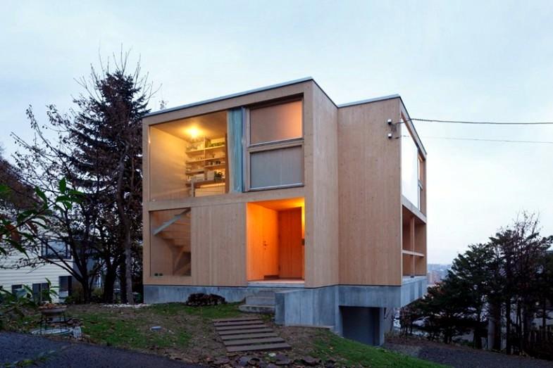 wood siding Japanese houses