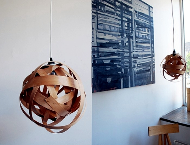Send lamp to make your own parts from bent wood veneer | Interior ...