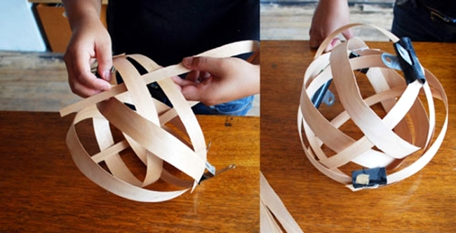 Send lamp to make your own parts from bent wood veneer