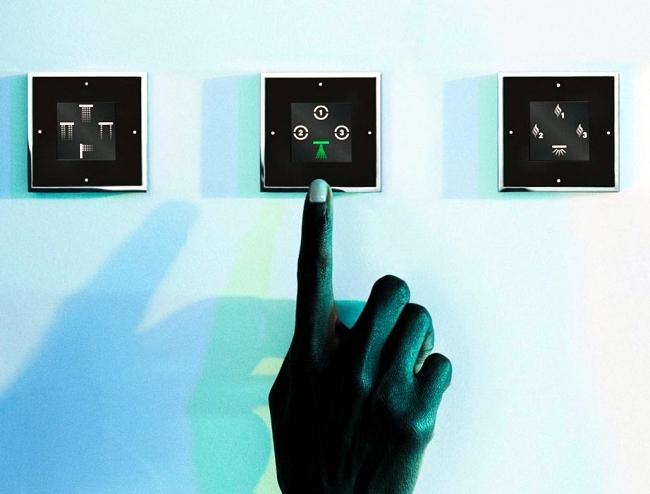 Sensory Sky shows the future design shower in bathroom interior