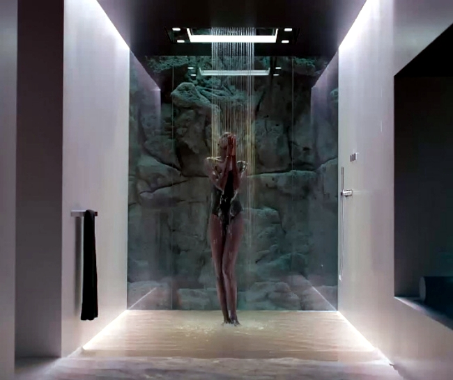 Sensory sky shows the future design shower in bathroom