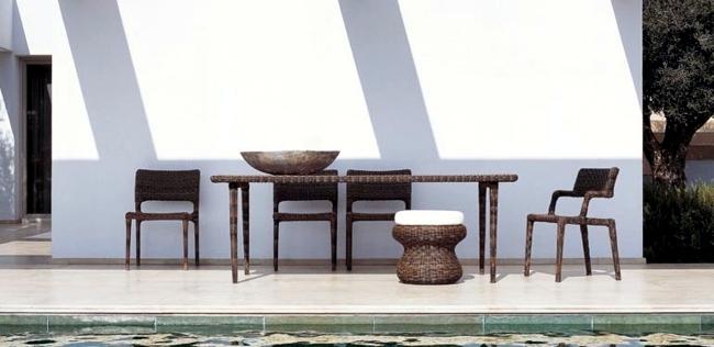 Set in a Mediterranean style garden paradise - Rattan Garden Furniture