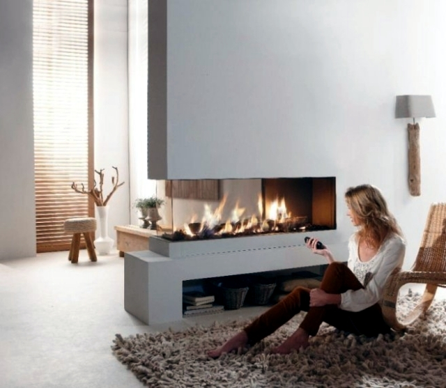 Set Up The Seating Area In Front Of The Cozy Fireplace In