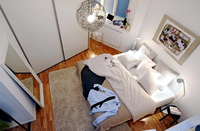 Setting up small bedroom - 20 ideas for optimal planning