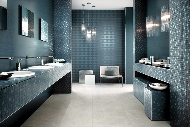 Shiny bathroom tile by Atlas Concorde Italian elegance in the