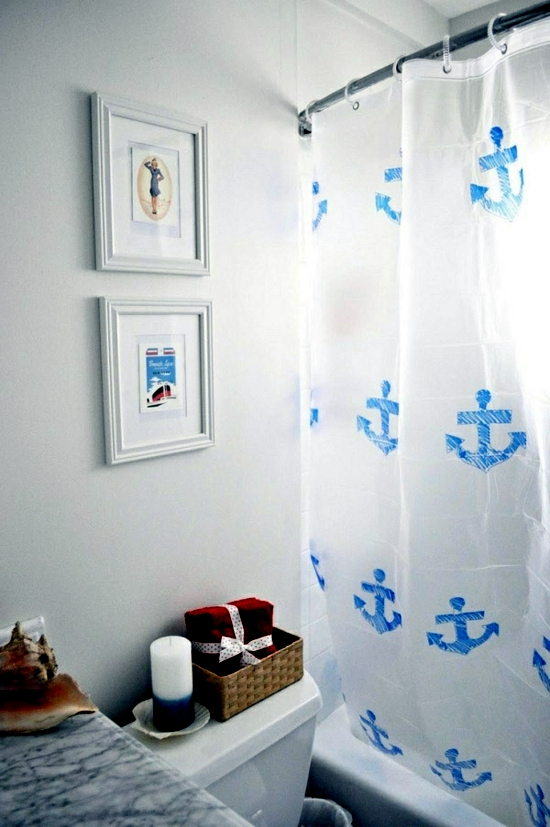 Shower curtain and decorate it nicely - original ideas for making your own