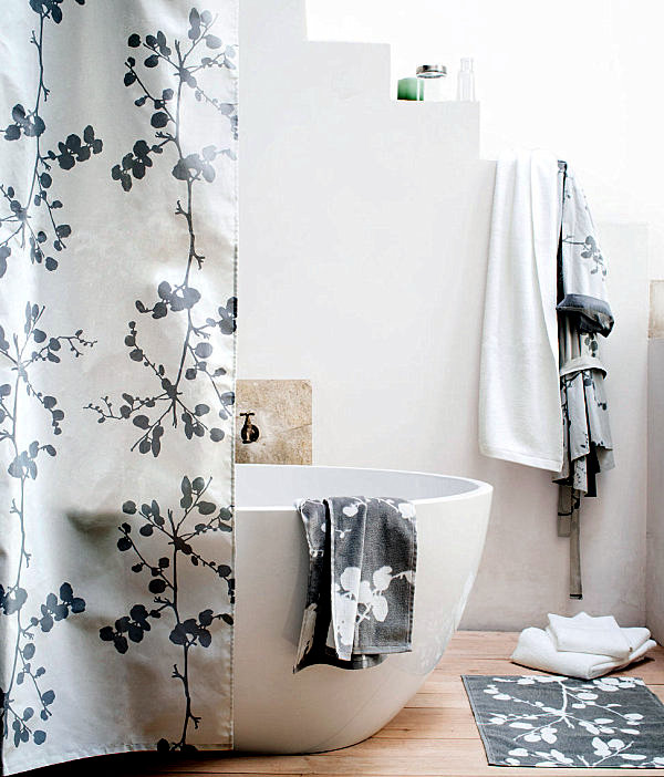 Shower curtains ideas for designs for the modern bathroom interior ...