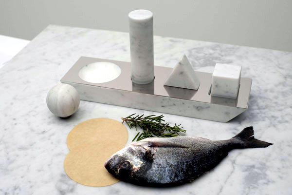 Simple Designer Kitchen Utensils Set Made Of Marble Studio
