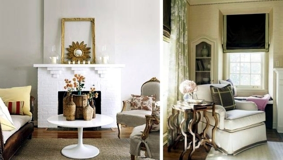Simple visual tricks to warm up the house in the fall
