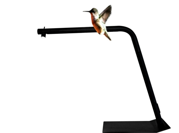 Small LED floor lamp made of aluminum Colibri by Emiliana Martinelli
