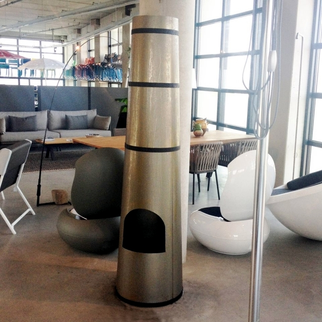 Smokestack by Frederik Roijé - Garden Fireplace style Industrial Chic