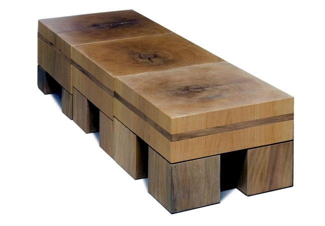 Solid wood furniture complete the minimalist interior wooden