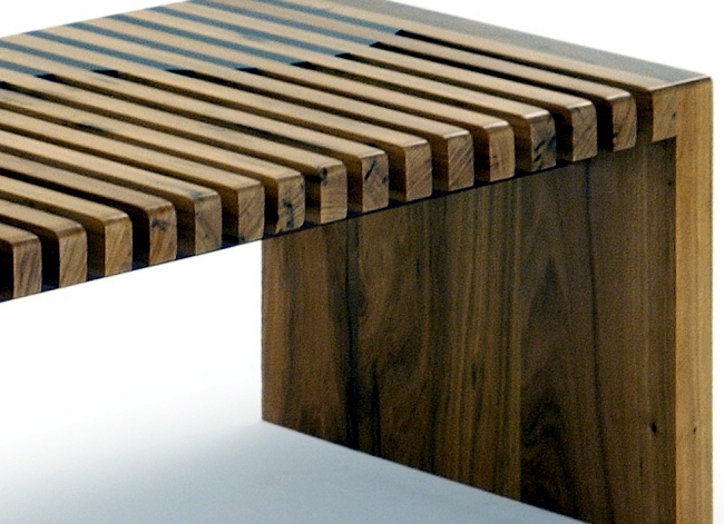 Solid wood furniture complete the minimalist interior wooden benches -22