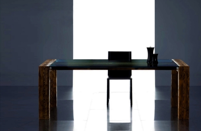 Solid wood tables conquer the living room re-design Giuseppe Pruneri