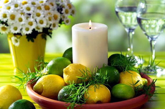Sommerdeko yourself-- Great ideas for the table with lemons